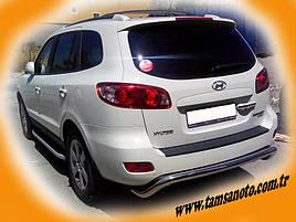 Задня дуга AK007 (нерж.) - Hyundai Santa Fe 2 2006-2012 рр ..