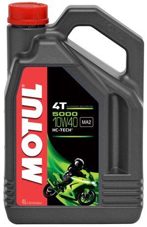 Motul 5000 4T 10W40 Hi-Tech (4л) Полусинтетика масло для 4-х тактных двигателей мотоцикла