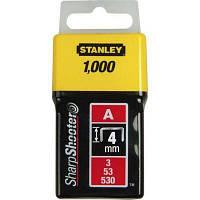 Скобы Stanley Light Duty тип а, 4мм, 1000шт (1-TRA202T)