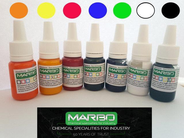 Набор пробников пигментов Марбо (Италия) для полиуретанов и смол, 7 шт х 5 мл
