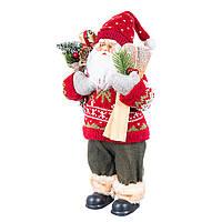 Новогодний Санта с угощениями 30 см