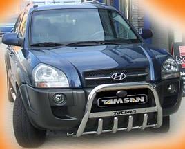 Кенгурятник WT004 (нерж.) - Hyundai Tucson JM 2004+ гг.
