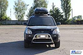 Кенгурятник WT025 (нерж.) - Hyundai Tucson JM 2004+ гг.