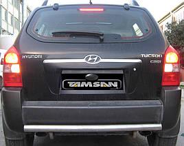 Задняя дуга AK002 (нерж.) - Hyundai Tucson JM 2004+ гг.
