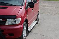 Боковые площадки X5-тип (2 шт., алюм.) - Mercedes Vito W638 1996-2003 гг.