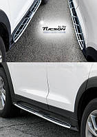Боковые площадки Оригинальный дизайн V1 (2шт) - Hyundai Tucson TL 2016+ гг.