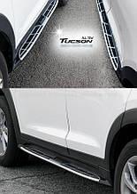 Бічні майданчики Оригінальний дизайн V1 (2шт) - Hyundai Tucson TL 2016+ рр.