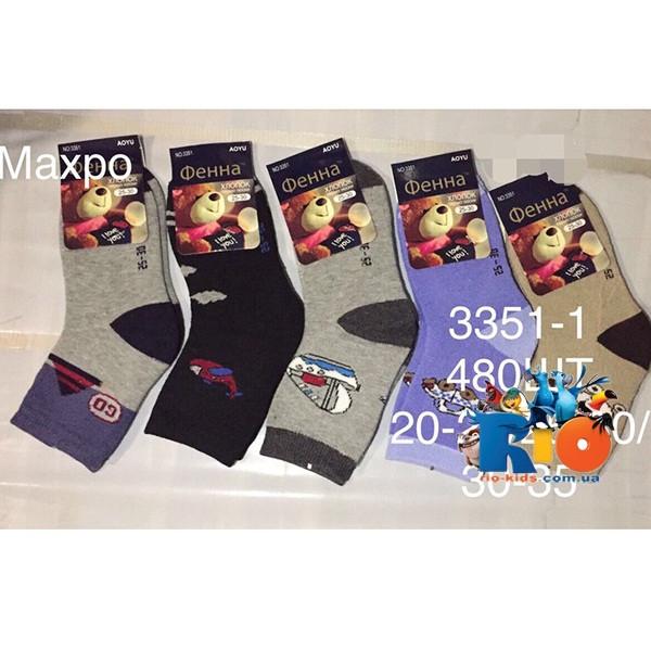 Детские махровые носки, для мальчиков, р-р  от 20-25  до 30-35 (12 ед в уп.)