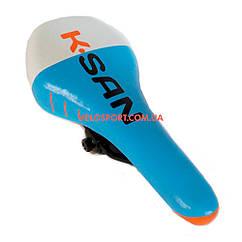 Велоседло K.SAN YBT-6035 бело-голубое