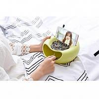 Миска для семечек, чипсов с подставкой для телефона, фото 1