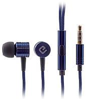 Наушники гарнитура вакуумная  Ergo ES-600i Minion  Blue