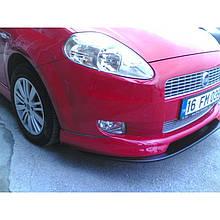 Передний бампер (накладка, под покраску) - Fiat Punto Grande/EVO 2006+ и 2011+ гг.