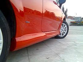 Боковые пороги (под покраску) - Fiat Punto Grande/EVO 2006+ и 2011+ гг.