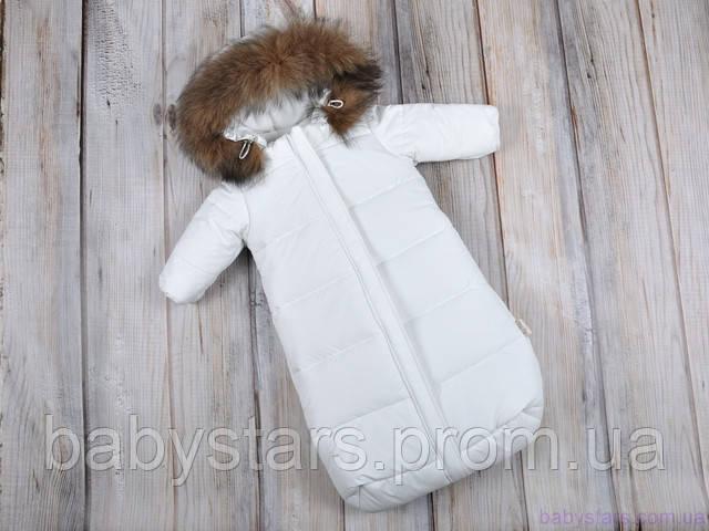 Комбинезон конверт для новорожденных зимний
