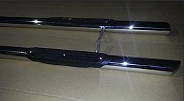 Боковые трубы (2 шт, нерж) - Toyota Hilux 2006-2015 гг.