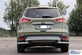 Задние двойные уголки AK003-double (2 шт, нерж) - Ford Kuga 2013+/2016+ гг.