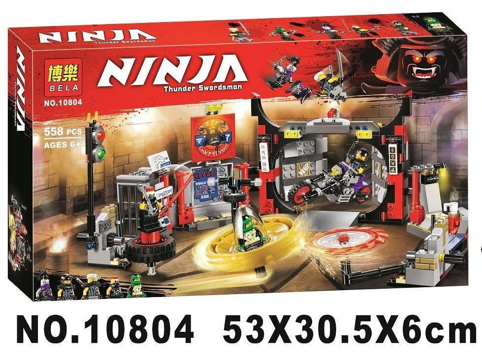 Конструктор Bela 10804 Ninjago Ниндзяго Ninja Ниндзя Штаб-квартира Сыновей Гармадона 558 деталей