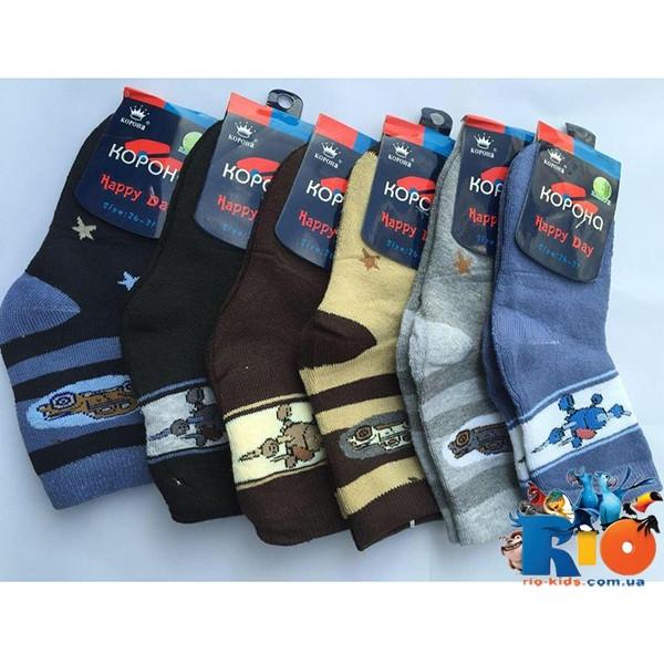 Детские махровые носки, для мальчиков, р-р  от 21-26  до 31-36 (12 ед в уп.)