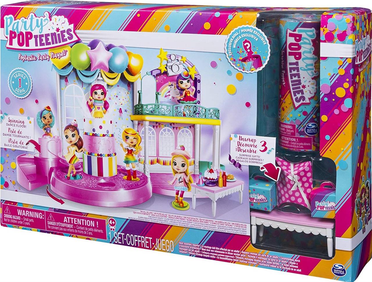 """Hабор сюрприз с куклами хлопушки-конфетти """"Фантастическая вечеринка"""" Party Popteenies, Spin Master"""