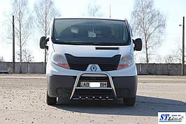 Кенгурятник QT-Spec (нерж.) - Nissan Primastar 2002-2014 гг.