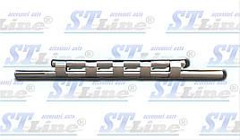Передняя защита ST015 (нерж.) - Renault Logan MCV 2008-2013 гг.