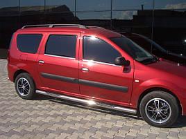 Боковые трубы BB002 (2 шт., нерж.) - Renault Logan MCV 2008-2013 гг.