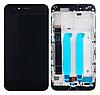 Дисплей (екран) для Xiaomi Mi A1/Mi 5x + тачскрін, чорний з передньою панеллю