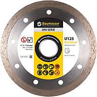 Круг алмазный Baumesser 1A1R Universal 125 мм, универсальный отрезнойдиск по керамической плитке, Дистар