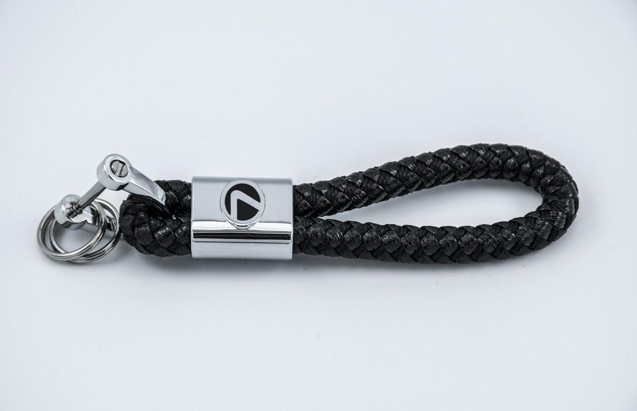 Брелок с логотипом LEXUS, плетеный берлок с логотипом лексус для автомобилиста + карабин/черный