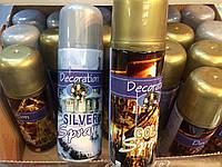 """Снег искусственный Золото и Серебро (аэрозоль) """"Decoration"""" 9518"""