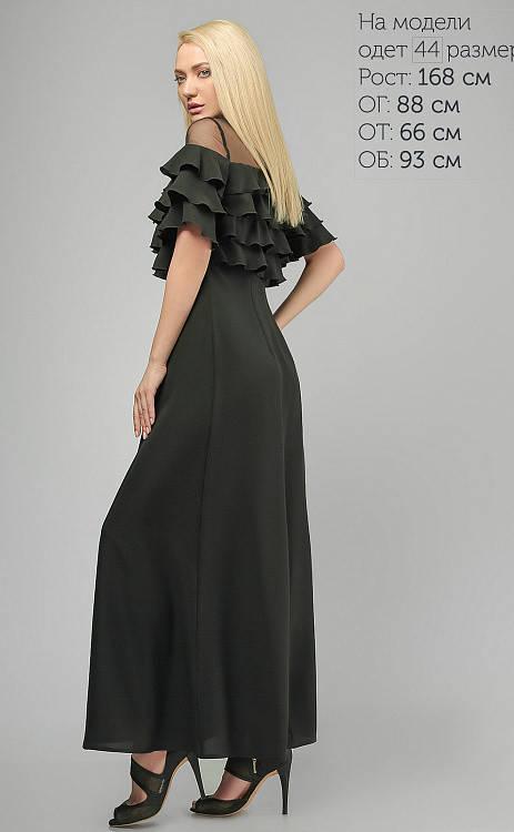 Вечернее платье в пол черное, фото 2