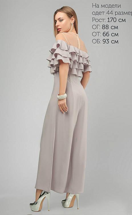 Нарядное длинное вечернее платье в пол серое, фото 2