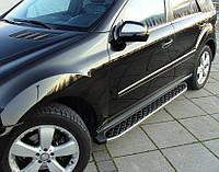 Боковые площадки BlackLine (2 шт., алюминий) - Mercedes ML klass W164