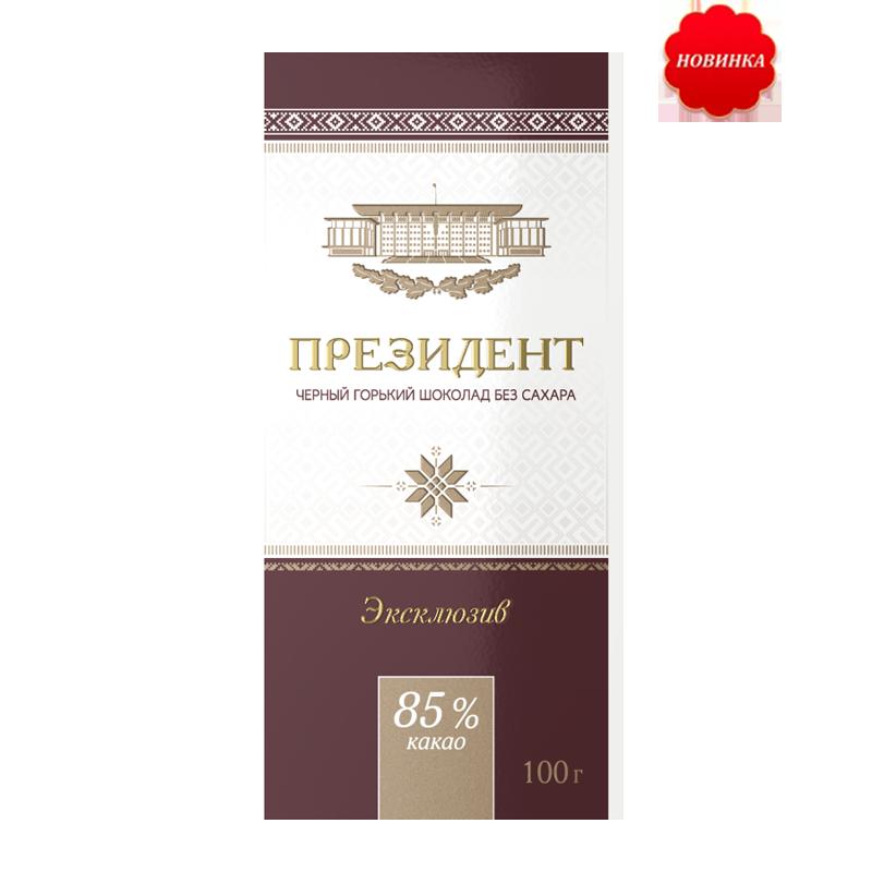 Белорусский шоколад Президент горький без сахара, 85 %