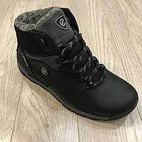 Мужские зимние кроссовки ботинки Ecco / реплика набук