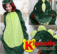 Пижама кигуруми для взрослых. Динозавр зелёный XL(180-190 см) 1bda5ea9a6ee0