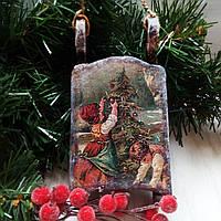 Новогодние сани Елочная игрушка  Подарок на день св. Николая Новый год Рождество