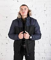 Мужская зимняя куртка PBV Winter Bereg Black-Navy