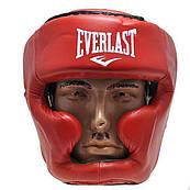 Шлем боксерский закрытый Everlast Flex (красный, S-XL)