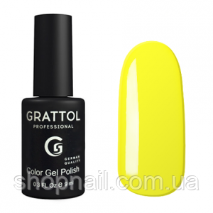 Grattol Gel Polish Yellow №034, 9ml, фото 2