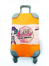 LOL чемодан с выдвижной ручкой на колесах - розовый, оранжевый, бирюзовый, фото 2