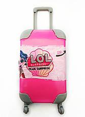 LOL чемодан с выдвижной ручкой на колесах - розовый, оранжевый, бирюзовый, фото 3