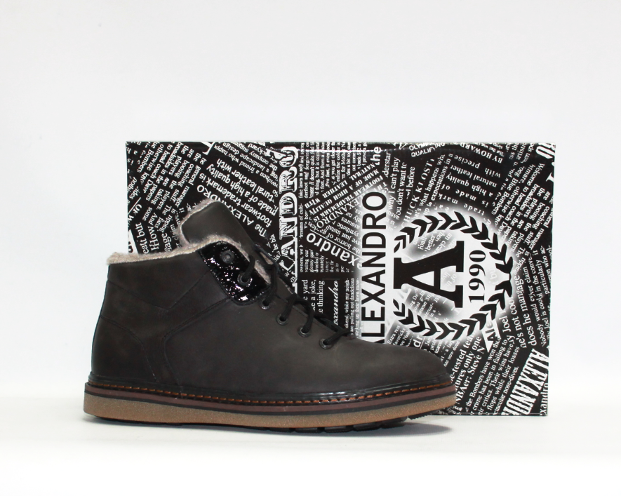 Мужские зимние ботинки Alexandro натуралый нубук мех 42  продажа ... 334d26da428