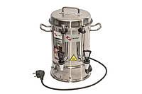 Промышленный электрический чайник с двумя кранами из нержавеющей стали 8л