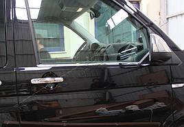 Окантовка стекол (2 шт, нерж) - Volkswagen T6 2015+ гг.
