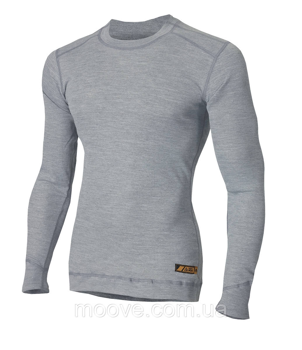 Aclima Work X-Safe Shirt Crew Neck L grey melange