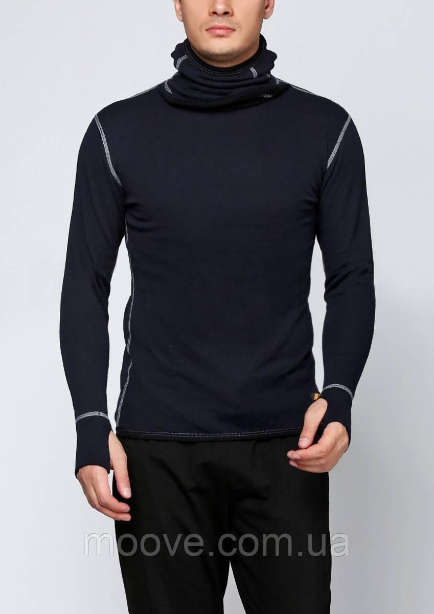 Aclima Work X-Warm Hood Sweater M dark navy