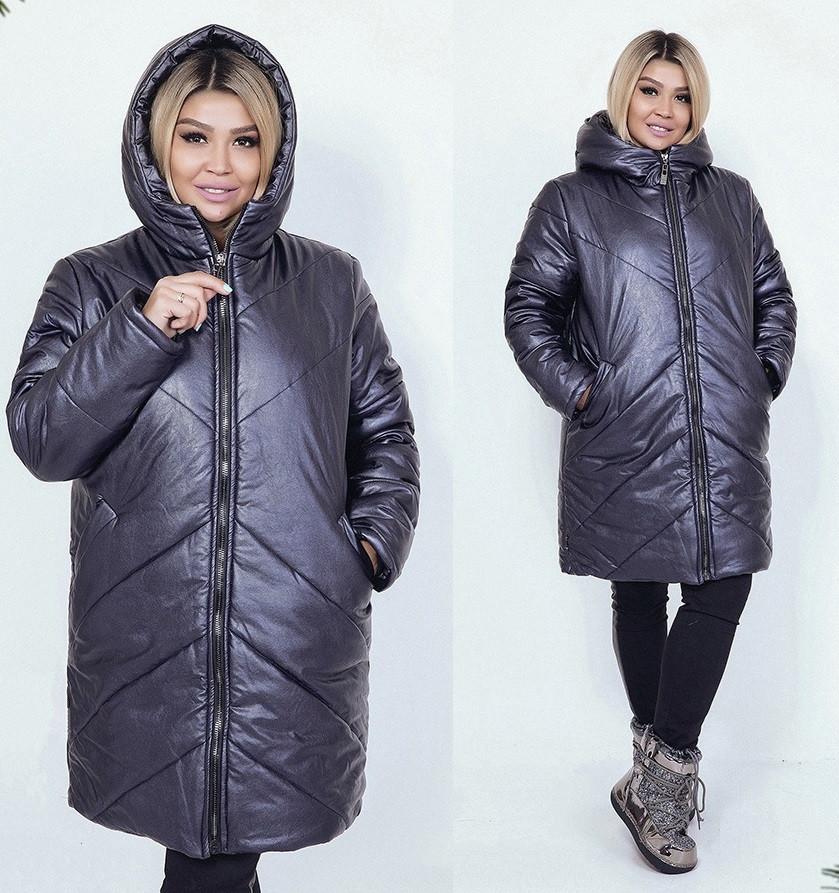 Длинная зимняя куртка, батал