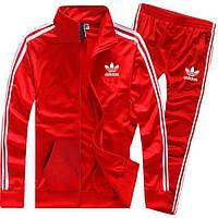 Красный спортивный костюм Adidas с лампасами (Адидас)