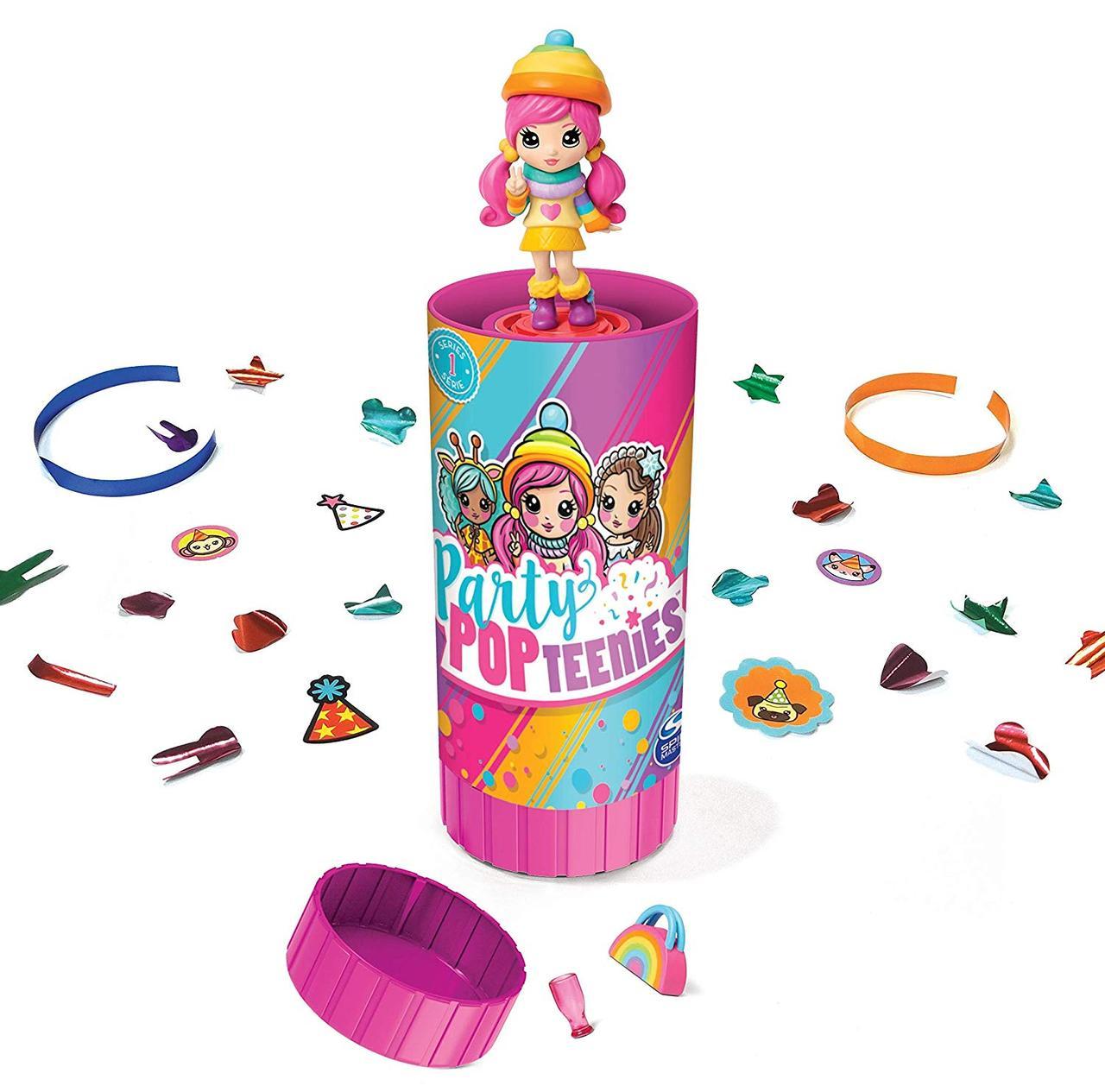 Набор 1 штука Party Popteenies: куколка хлопушка – сюрприз, Spin Master из США
